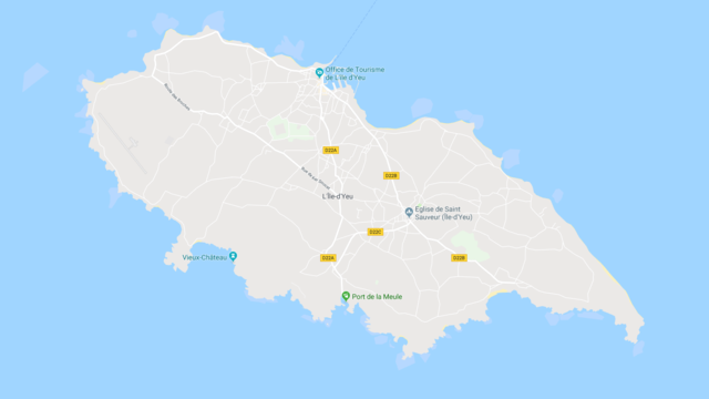 Map of L'île d'Yeu