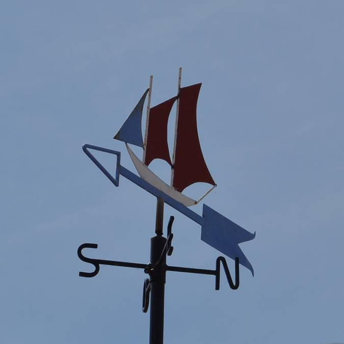Weather vane, Port-Joinville, Ile d'Yeu