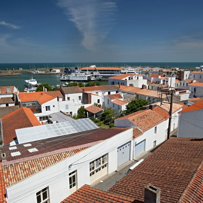 Roofs of Port-Joinville, Ile d'Yeu