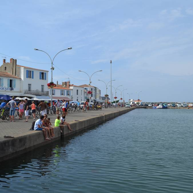 Quay in Port-Joinville, Ile d'Yeu